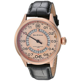 Ben & Sons Mens Arrow Quartz Stainless Steel And Leather Wa