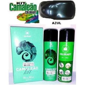 Tinta Spray Efeito Camaleao Colorart Kit Primer + Tinta Azul