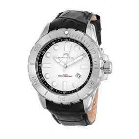 Porsamo Bleu Tommy Genuine Leather Silver Tone & Black Mens