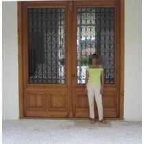 Porta De Madeira De Demolição 2 Folhas 3,00 X 2,40
