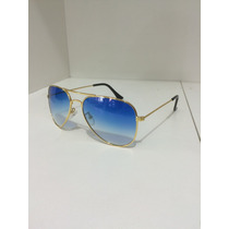 Óculos Aviador Mod. Ray Ban Lente Azul E Vermelha