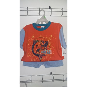 Conjunto Niño Playera Manga Media C/short Varios Colores
