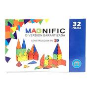 Bloques Magneticos Magnific 32 Piezas Playking