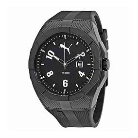 Reloj Puma Iconic Hombre Resistente Al Agua - Negro / Bla...