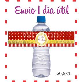 50 Rótulos Personalizados Garrafa De Água P Lembrancinh