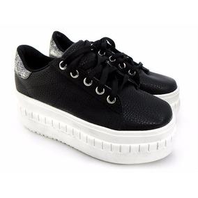 Zapatillas Con Plataforma Cordones Sneaker