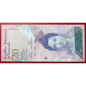 Venezuela Billete 20 Bolívares Xf 2013 Pick 91