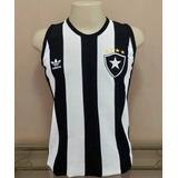 Camisa Retrô Botafogo Anos 80 Regata - Bordada - S A L D Ã O