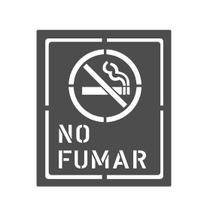 Letrero Stencil Plantilla Señalización No Fumar Metal Acero