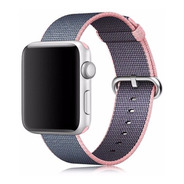 Pulseira Nylon P/ Apple Watch 42/44mm Rosa C/ Azul Marinho