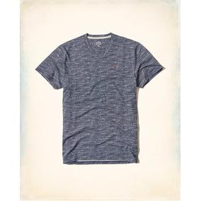 Camisa Masculina Gola V Hollister Original Linda Blusa
