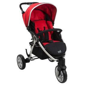 Carrinho De Bebê Burigotto W3 - Red Black
