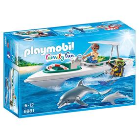 Playmobil Family Fun Equipo De Buceo Con Lancha Art. 6981