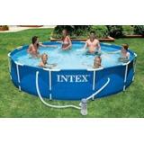 Pileta Estructural Intex 366x76cm+ Filtro+inflable De Regalo