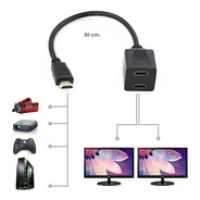 Cable Y Splitter Divisor Hdmi 1 In A 2 Salidas Full Hd Wi80