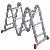Escada Multifuncional 4x3 Em Aço E Alumínio 12 Degraus Loi