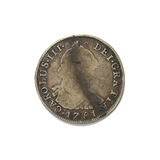 1781 Mexicano Carlos Iii Plata 4 Reales 4r Fino