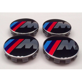 Calota Centro Roda Bmw M Motorsport 68mm Kit 4 Peças