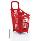 Carro De Mercado Plástico Capacidad 65 Lt