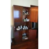 Mueble Retro Madera Vajillero Despensa Biblioteca Cristalero