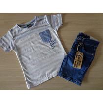 Conjunto Tigor T. Tigre Camiseta E Bermuda T.4/10/12