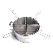 Combo Cacerola Aluminio N° 32 + 4 Canastos Para Pastas