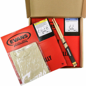 Kit Snare Evans Pele Hd Dry 14+ Hazy14 + Camiseta+ Baqueta