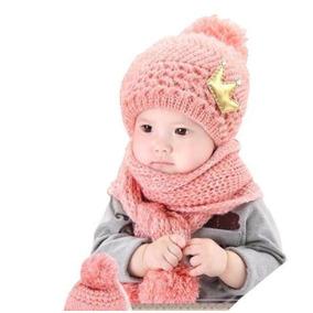 Touca Cachecol Bebe - Roupas de Bebê Rosa claro no Mercado Livre Brasil d0476606382