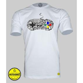 Camiseta Muydahora® - Controle Snes - 100% Algodão