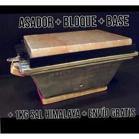 Asador + Bloque + 1 Kg Sal Himalaya + Base + Envío + Meses