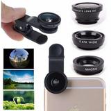 Kit Lente Para Celular Smartphone Universal 3 Em 1- 6 Cores