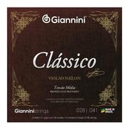 Encordoamento Violão Nylon Giannini Clássico Tensão Media