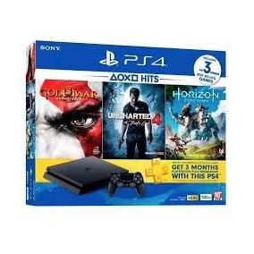 Ps4 Playstation 4 Slim Cuh2015a 500gb Com 3 Jogos Original