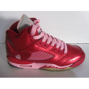 premium selection b4404 1a9ad ... spain jordan retro 5 color rojo rosa talla 23cm n94 f9654 96d58 low  price women air jordan retro 5 shoes black rednew ...