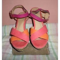 Zapatos Tela Corcho Vms 8 Margarita All Man Made Materials
