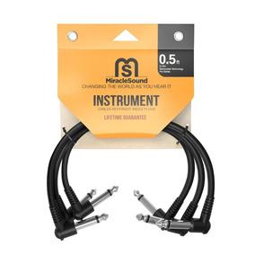 3 Cables Instrumento Cortos Ideal Pedalera - Blakhelmet Nsp