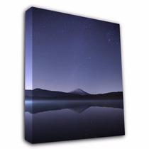 Cuadro De Una Montaña Y Cielo Impresa En Lienzo De 68x51cm