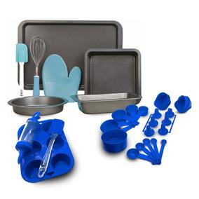 Set Repostería 34 Piezas Azul Bakers Dreams & Beginers.