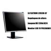 Monitor Led Lcd 19 Polegadas Lg L1953h - Com Garantia