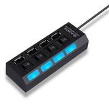 Hub Ampliador Usb Con 4 Puertos Hi Speed 2.0