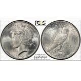 Dólar 1925 Peace Certificada Pcgs Ms64 Plata