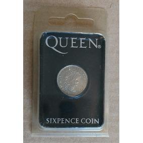 Raridade Moeda Sixpence Brian May 2004 Queen
