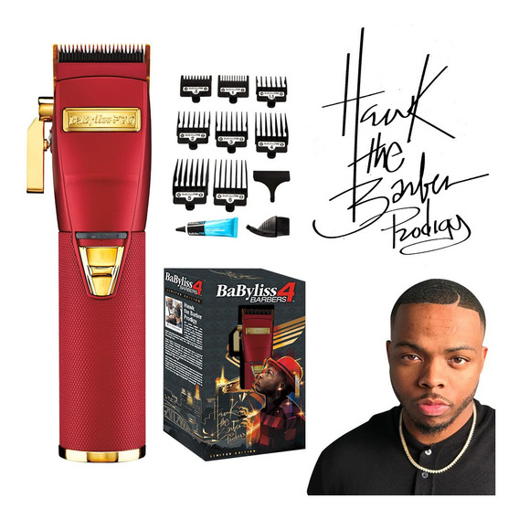 Máquina Cortar Pelo Babyliss 4barbers Red Fx Hawk The Barber