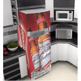 Adesivo Budweiser Geladeira Envelopamento Plotagem