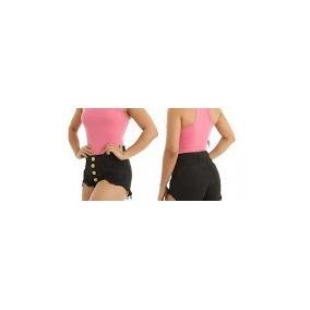 Short Jeans Feminino Hot Pant Cintura Alta 34 Ao 44 Varejo.