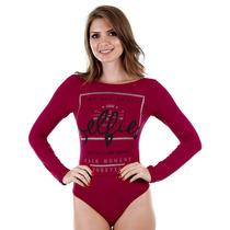Body Feminino Lara - Vinho