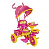 Triciclo Infantil Bebeglo Looney Tunes Musical Juguete Rosa