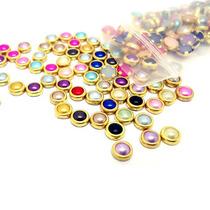 100 Medias Perlas Orilla Metálica 14 Colores Uñas Konad Gel