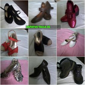 Zapatos Tacones, Suecos Dama 36 Usados