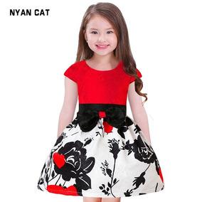 Vestido Niña Fiesta Formal Rojo Envio Gratis